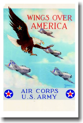 Wings Over America - Air Corps US Army - Vintage Reprint ()