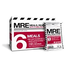 Meal Kit Supply MKA-005 MRE Meals Ready to Eat with Two Course Fresh and Heaters, 5 Year Shelf Life (6-Pack)