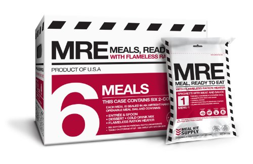 4. Meal Kit Supply: 6 pack MRE (Meals, Ready to Eat)