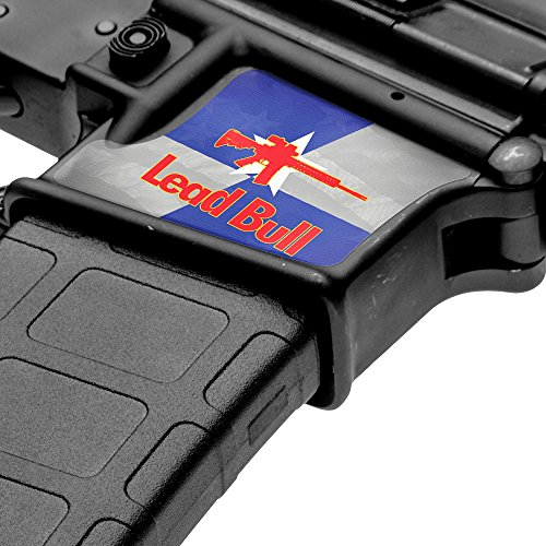 GunSkins Magwell Skin Specialty Vinyl Decal for AR-15/M4 Lower Receivers (GS Lead Bull)