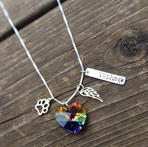 Personalized Rainbow Bridge Pet Loss Gift Necklace