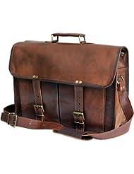 Jaald Leather Messenger Satchel Shoulder 13 15.6 Laptop Bag Briefcase office bag for Men Women