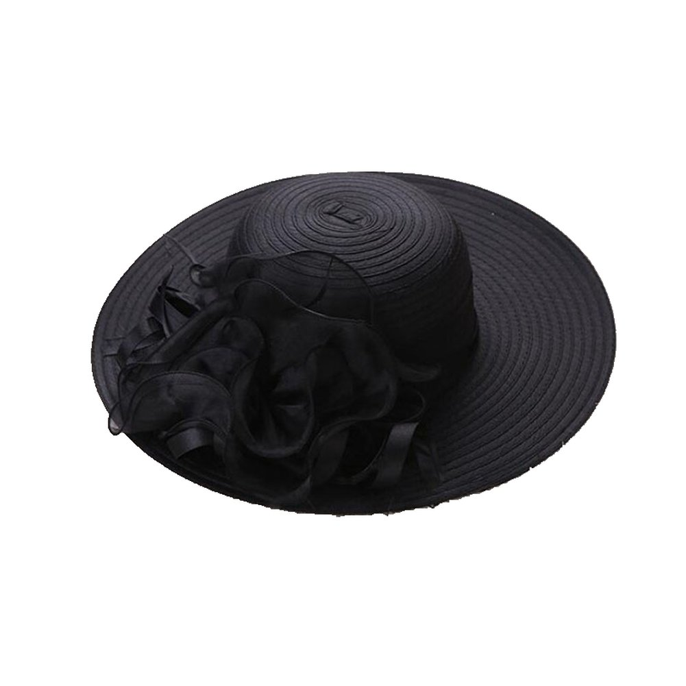 Women Sun Summer Hat Wide Brim UV Protection Beach Vacation Travel Shopping Cap by AOBRITON (Image #1)