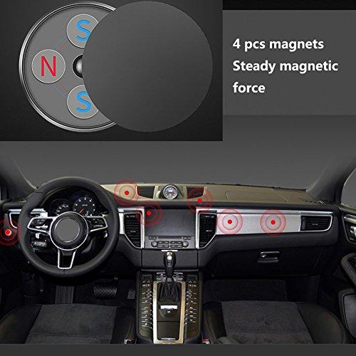 Magnetic Car Mount Holder Rotating,HONRIYA Universal Magnet Car Phone Mount for iPhone X/8/7/6,Android Cell Phone(Black) by HONRIYA (Image #2)