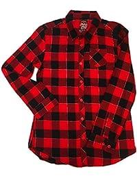 Girls Flannel Buffalo Check Button Down Shirt