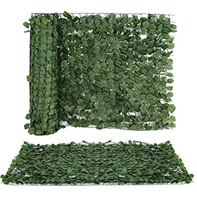 "ZENY Faux Ivy Privacy Fence Screen 94"" X 59"" Artificial Hedge Fencing Outdoor Privacy Fence Screen,Wall Home Garden Decoration"