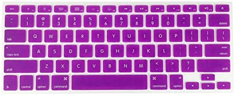 YoBest Silicone Keyboard Cover protector Skin for Apple Macbook Pro MAC 13 15 17-Purple