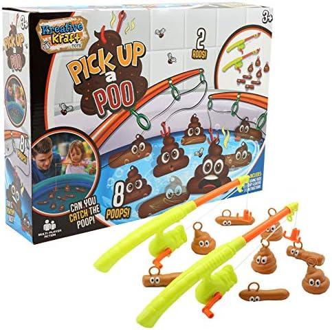 KreativeKraft Pesca la Caca Juguete Bañera para Niños Juguetes de Baño Divertidos para Niños con Hilo de Pescar y Caca en Plástico: Amazon.es: Juguetes y juegos