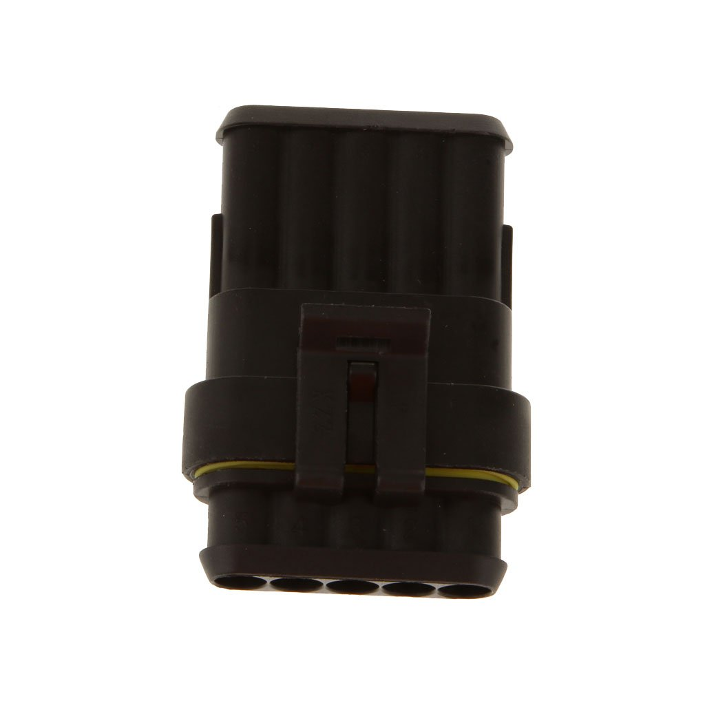 Gazechimp 5x Kit de Coche 5 Pines Macho Hembra 1,5 mm Conector de El/éctrico de Impermeable para Autom/óvil Barcos Caravanas