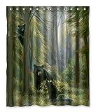 Black Bear Shower Curtain 60