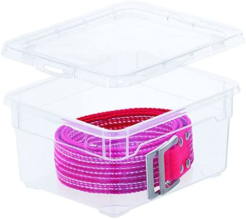 transparent PP Rotho Clear Box Small Aufbewahrungsbox 2 l mit Deckel 19 x 16,5 x 9 cm Kunststoff 2 Liter