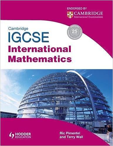 Amazon.com: Cambridge Igcse International Mathematics. Terry Wall ...