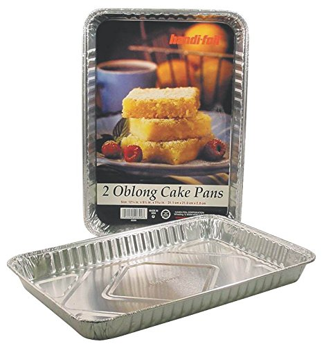 Handi-foil 20309tl-15 Oblong Cake Pan, 12.25 inch X 8.25 inch