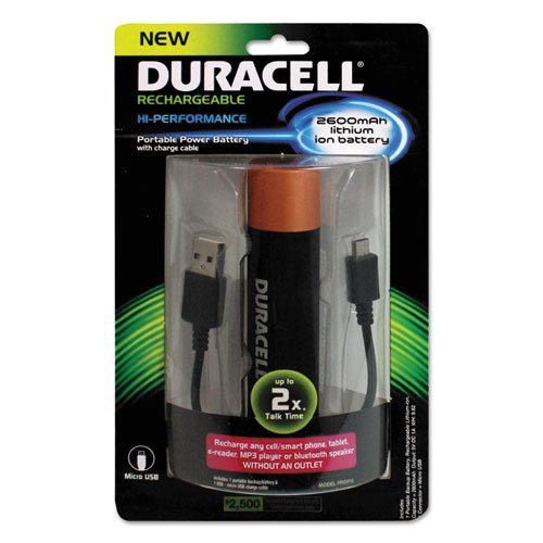Duracell - Pro Power Bank Portable Charger - Black/Copper (Duracell Mobile Battery Charger)