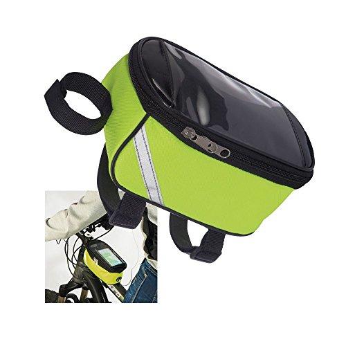 Fahrradtasche für Kleinigkeiten mit Handytasche - signalgelb mit Reflektoren - Sicherheit
