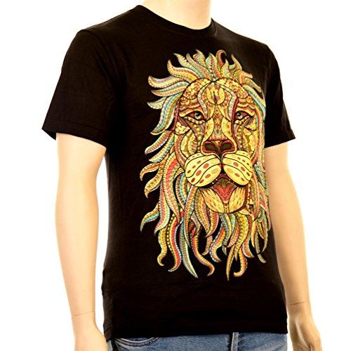 Rasta Lion - Rock Eagle T-Shirt Reggae Animals Löwe Rastafari