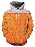 NEWISTAR Men Boys Funny Christmas Hoodie 3D Printed Pullover Unisex Drawstring Pocket Sweatshirts Hooded Velvet