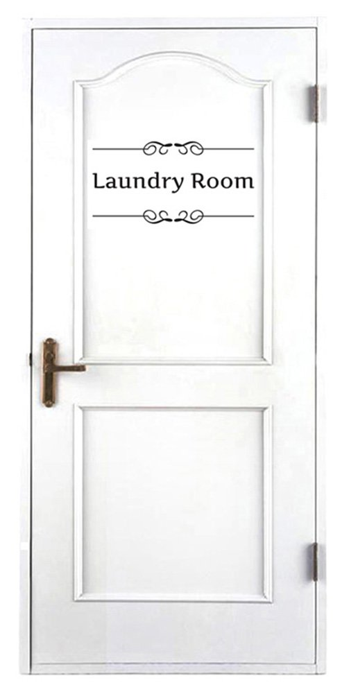 GogoForward Removable Vintage Wall Stickers Bathroom Decor Toilet Door Sign Vinyl Art Decals (laundry room) by GogoForward (Image #2)
