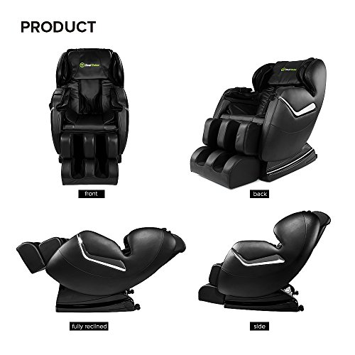 Real Relax Massage Chair Recliner - Full Body Shiatsu, Zero Gravity, Armrest linkage system,with Heater (Black) by Real Relax (Image #8)