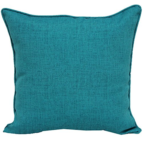 Brentwood Originals 35360 Indoor/Outdoor 17 Inch Toss pillow, Linen TURQUOISE (Originals Cushions Outdoor Brentwood)