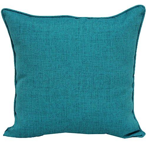 Brentwood Originals 35360 Indoor/Outdoor 17 Inch Toss pillow, Linen TURQUOISE (Originals Brentwood Cushions Outdoor)