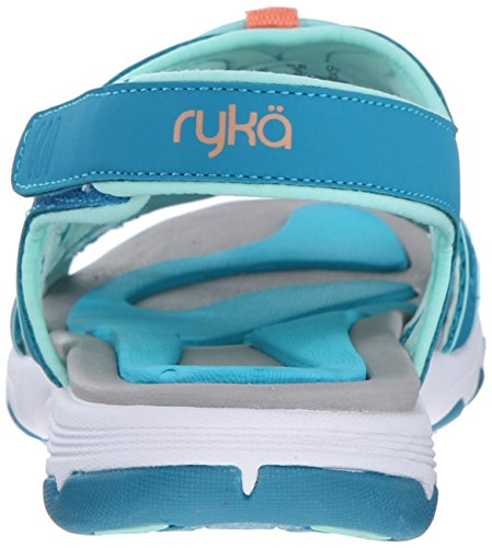 Ryka vista de la mujer sandalias de Athletic Blue/Mint/Coral
