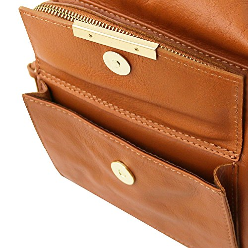 Rosso Bag pelle convertibile zaino Borsa TL Tuscany Lipstick TL141535 in Leather a donna Cognac qYTEP06