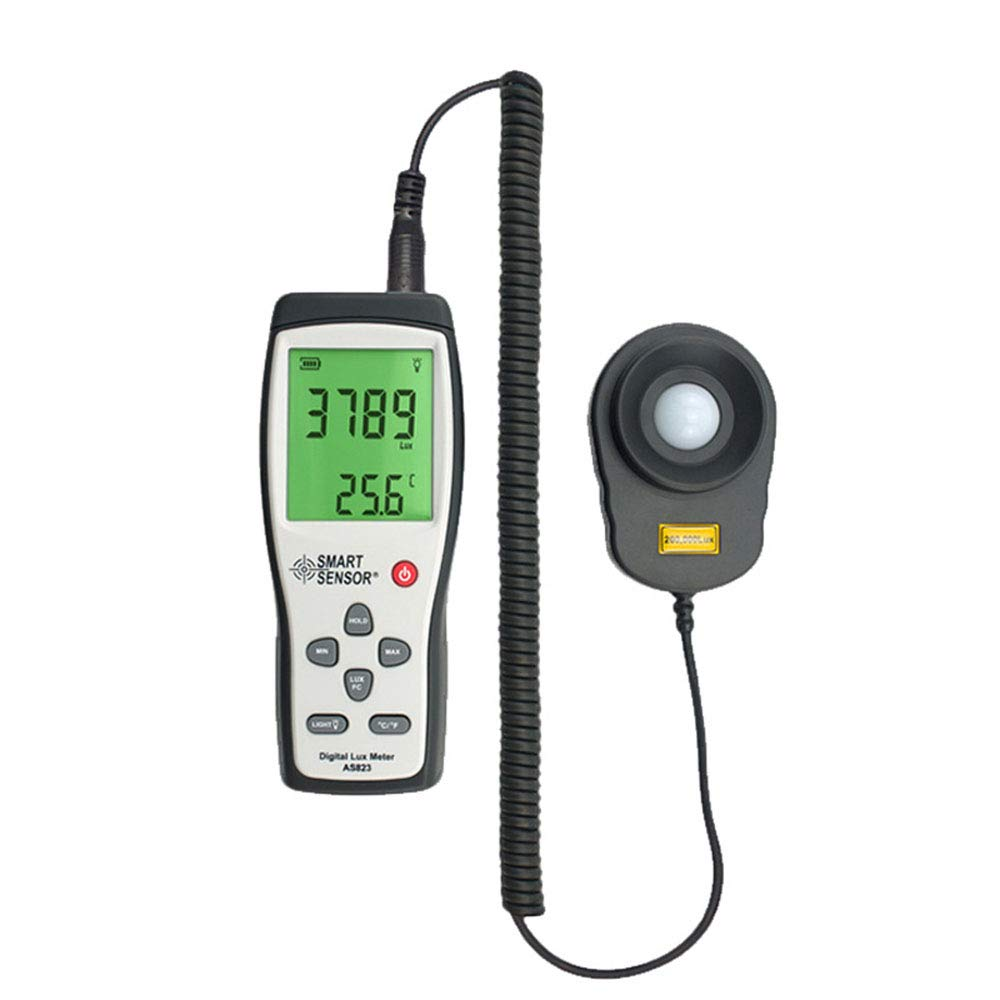 Light Meters Light Meter Digital Illuminance Meter Handheld Ambient Temperature Measurer with Range Up to 200000 Lux Luxmeter with 4 Digit LCD Screen by Lee Lam