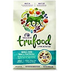 Wellness TruFood Baked Blends Natural Grain Free Dry Raw Dog Food, Salmon, Turkey & Flaxseed, 3-Pound Bag