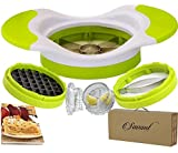 Easy Grip Apple Slicer/corer Mango and Potato Slicer for Home Made French Fries Complete Bundle with Garlic Crusher Much Easier Than a Press