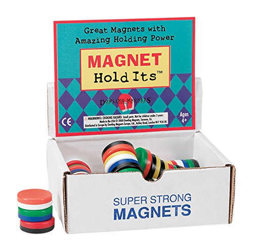 Dowling Magnets Button Magnet Display (40 Pieces) (Display Magnets)