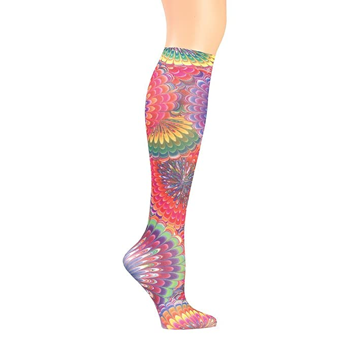 e1d24f86a56 Image Unavailable. Image not available for. Color  Women s Wide Calf  Printed Moderate Compression Knee Highs ...