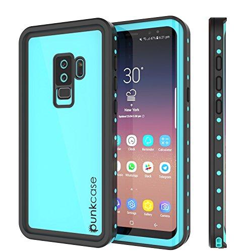 Galaxy S9 Plus Waterproof Case, Punkcase [StudStar Series] [Slim Fit] [IP68 Certified] [Shockproof] [Dirtproof] [Snowproof] Armor Cover for Samsung Galaxy S9+ [Teal]