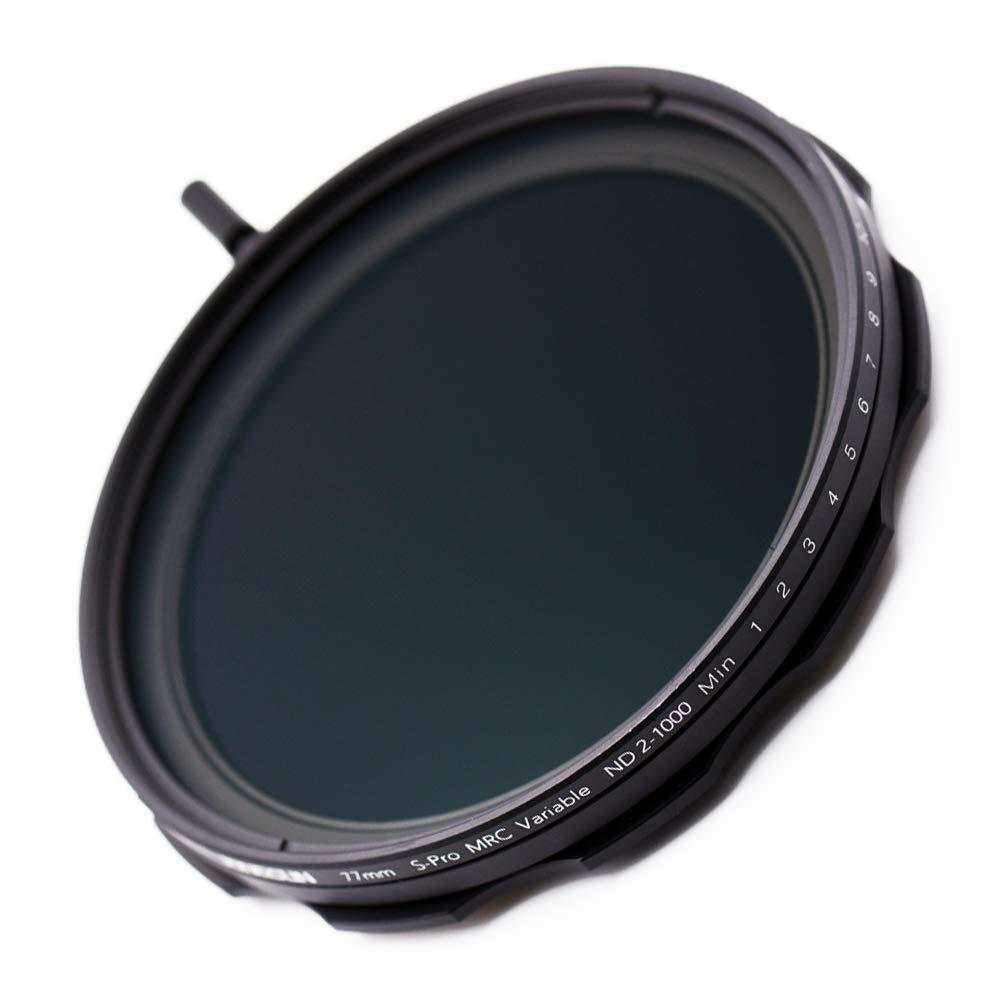 JONGSUN 77mm Variable ND Filter, S-Pro MRC 16 Layers Nano Coatings, More Than 10 Stop ND2-ND1000 Stepless Adjustment Graduated, Lens Cloth Kit,Camera Neutral Density Filter