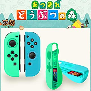 WANGOFUN Switch Joycon Caps, 4 Joystick Cap for Nintendo Switch & Switch Lite, Animal Crossing Thumb Grips Analog Stick Cover, Soft Silicone for Joy-Con Controller,Joy con Controller case