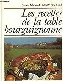 Les recettes de la table bourguignonne