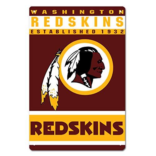 MamaTina Custom Washington Redskins American Football Team Design Metal Tin Signs for Home Wall Decor Size 12x8 ()