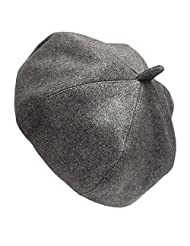Beret Pillbox Hat Women Winter Church Party Hat Suede Solid Color