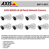 AXIS M2025-LE (8-Pack) Network Camera, Outdoor-Ready Camera with Built-in IR