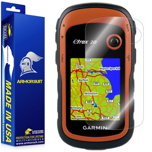 ArmorSuit Garmin eTrex GPS Screen Protector Full Coverage MilitaryShield Anti-Bubble Screen Protector Compatible w Garmin eTrex GPS - HD Clear