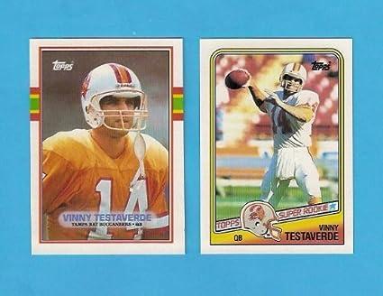 7e6db5a7f Vinny Testaverde (2) Card Football Lot (Including 1988 Rookie Card ...