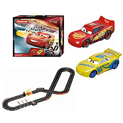 Carrera GO Carrera GO!!! Disney Pixar Cars Fast Friends Slot Car Race Track Set Lightning McQueen/Dinoco Cruz: Toys & Games
