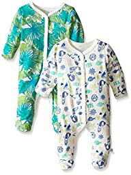 Rosie Pope Baby 2-Pack The Mermaid In Me Coveralls, Palace Blue, 3-6 Months