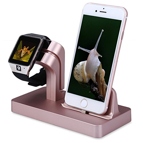 Apple Watch Charger Stand Dock, FACEVER Stand Holder & Charging Docking Station For Apple iWatch, iPhone, iPod -Rose gold by FACEVER