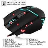 DLAND-FPS-Gaming-Gamer-Mouse-7200DPI-High-PrecisionFire-ButtonLED-Breath-Light-ZELOTES-Ergonomic-Wired-Optical-Computer-Mice-for-PCLaptopDesktopMac