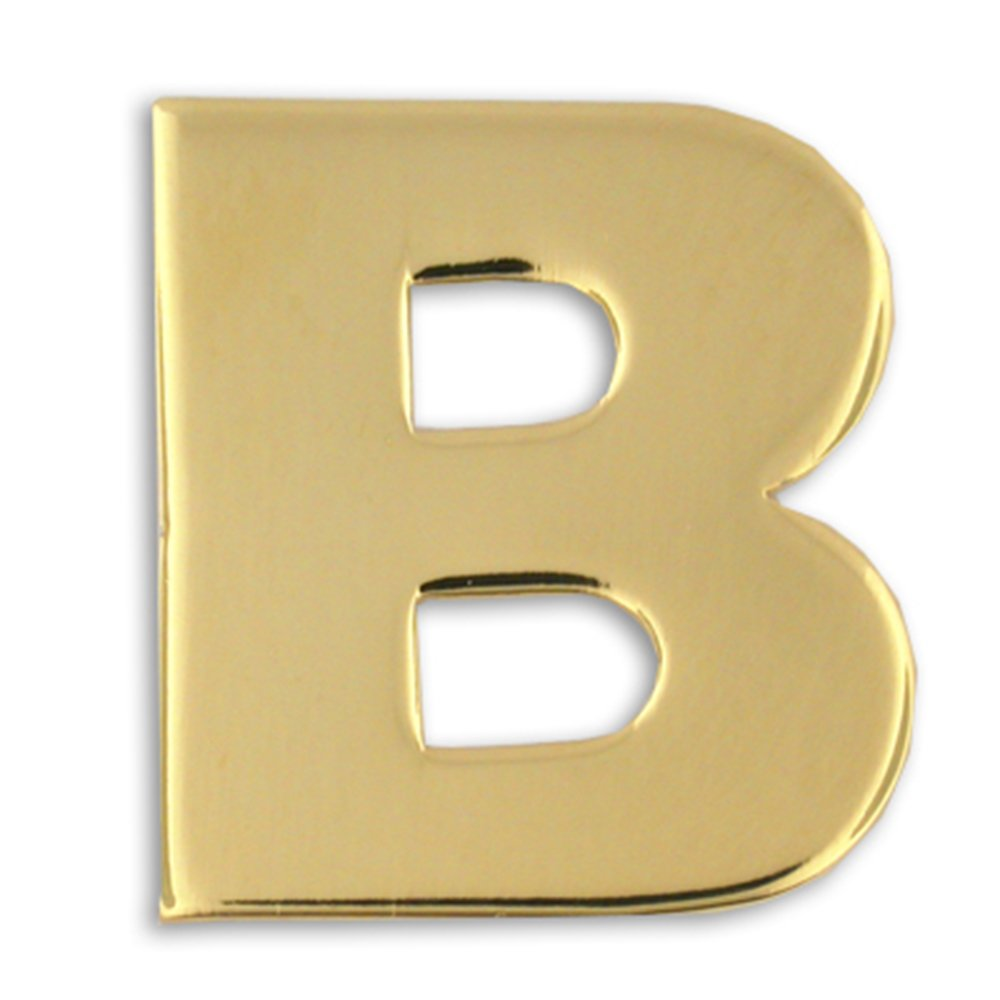 PinMart Gold Plated Alphabet Letter B Lapel Pin