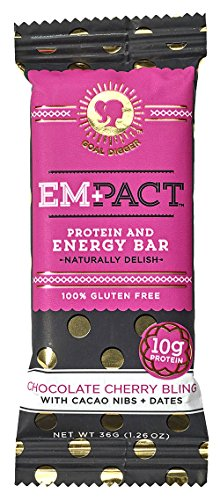 Empact Bars - Chocolate Cherry Bling - 10 Pack - Amazons #1 Ranked All Natural, NON-GMO, Gluten Free Protein and Energy Bar for (Advantage Natural Cherry)