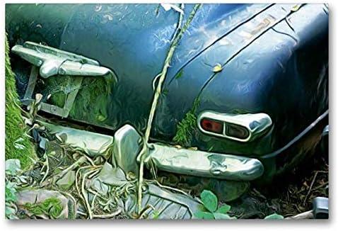 Calvendo Tela In Tessuto Di Alta Qualità, 90 Cm X 60 Cm Orizzontale, Visione Posteriore, Immagine Su Telaio, Immagine Su Vera Tela, Stampa Artistica: Auto D'epoca Natur Natura