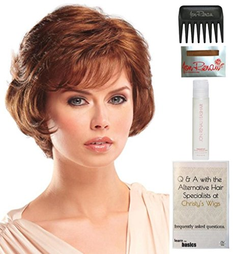 Price comparison product image Gwen Wig by Jon Renau, 15 Page Christy's Wigs Q & A Booklet, 2oz Travel Size Wig Shampoo, Wig Cap & Wide Tooth Comb COLOR SELECTED: 10
