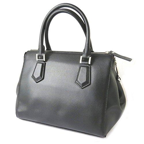 Gianni Conti [N6107] - Sac cuir 'Gianni Conti' noir - 35x21x15 cm